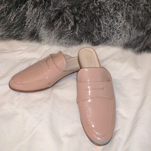 Catherine Malandrino Blush Patent Leather Slides
